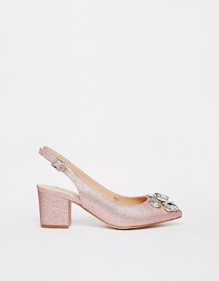 Asoss low heeled slinback closed shoes