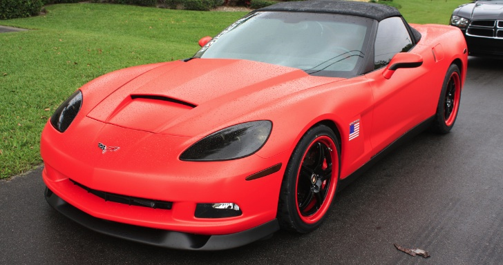 lingenfelter c6 corvette matte red wrap world news cars. Black Bedroom Furniture Sets. Home Design Ideas