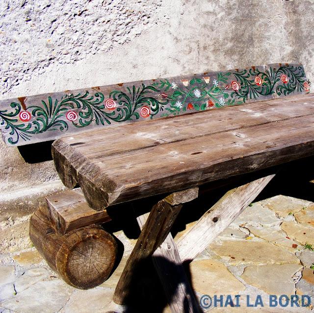 banca lemn cabana postavaru