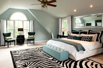 dormitorio alfombra de cebra