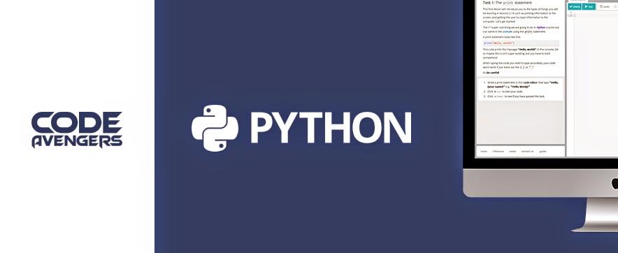Python logo of code avengers