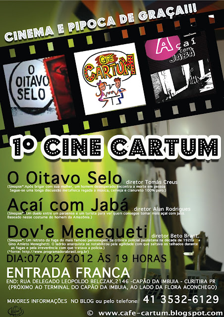 Cine Cartum- Curtas metragens brasileiros, O oitavo selo, Açaí com jaba,