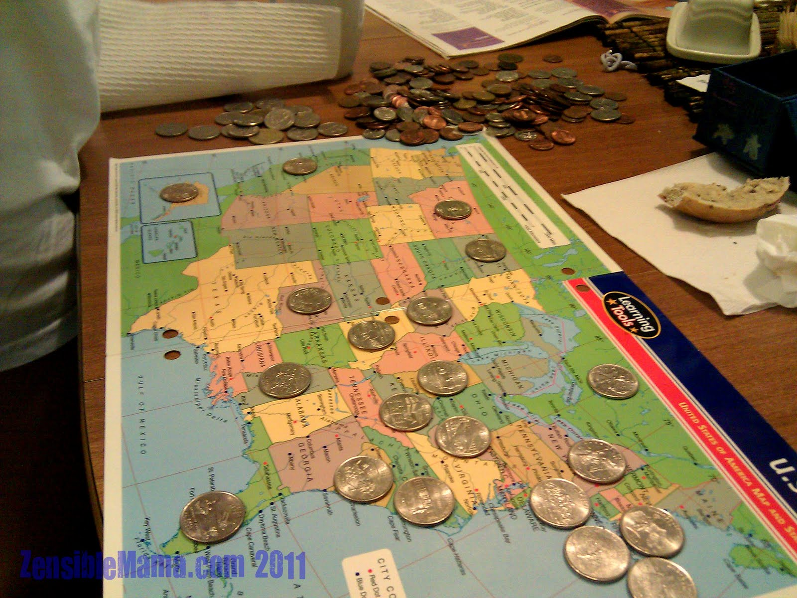 Simple Instruction Just Find The Right Coin And Let Your Child Find The States Corresponding To The Coin In Hand Let Your Child Read The States Out Loud
