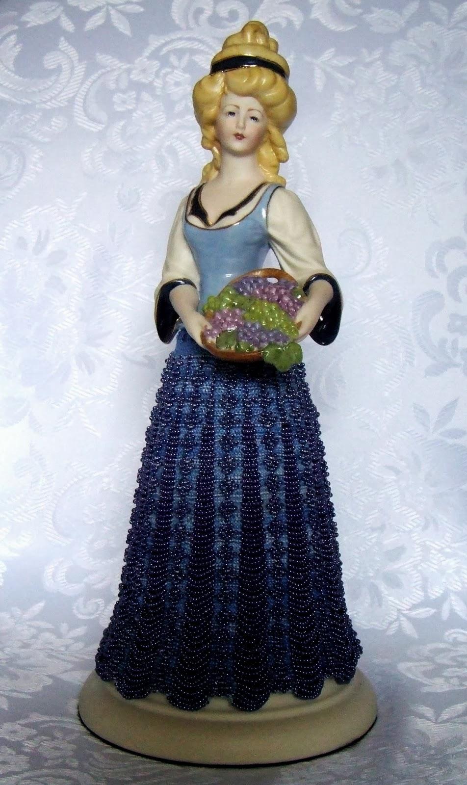 Beaded Knitting Patterns Half Dolls : Beading Belles: Bead Knitting Service For Half Doll Skirts