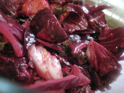 beet olive goat cheese salad