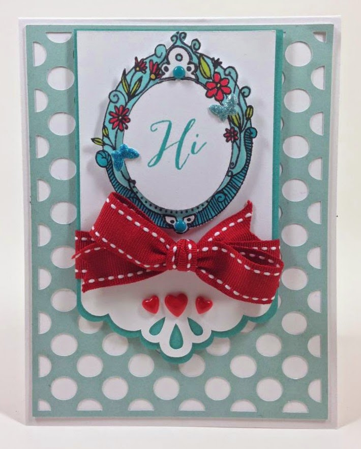 Cricut Artbooking Polka Dot card
