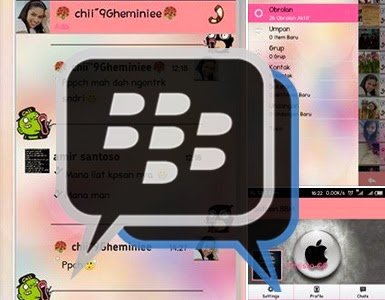 Download app BBM Mod Themes Love Story Pink Versi 2.5.0.36
