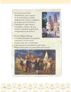 Apoyo Primaria Exploración de la Naturaleza y la Sociedad 1er grado Bloque 1 lección 7Cómo celebramos: el inicio de la Independencia de México