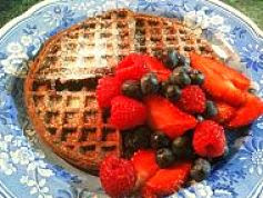 Featured Seasonal Treat: Double Chocolate bacon Waffles with Briar Berry Sauce