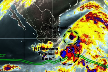 "TORMENTA TROPICAL ""BORIS"" 3 de Junio 2014"