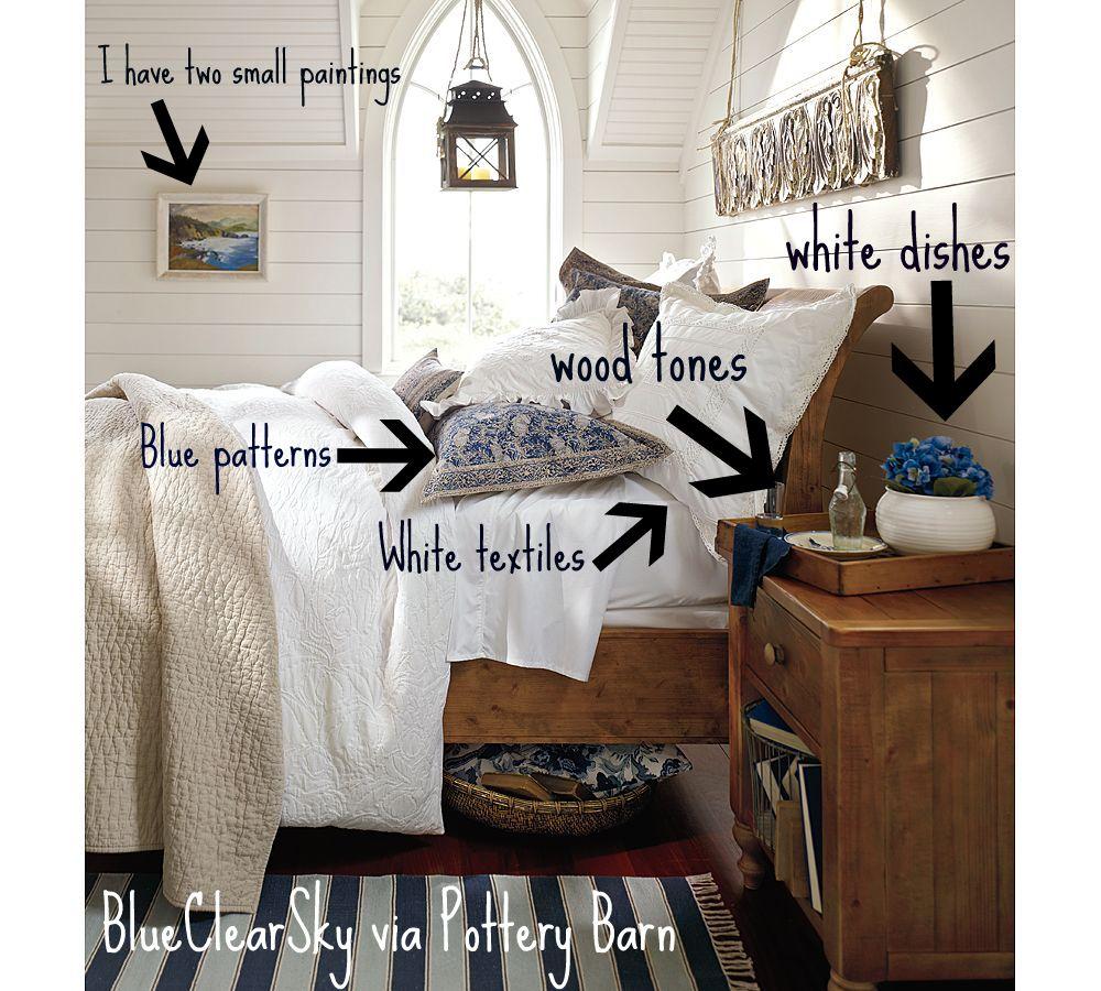 Pottery barn bedroom inspiration