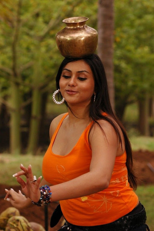 Actress Namitha Hot Movie StillsNamitha In Fire Movie Stills cleavage