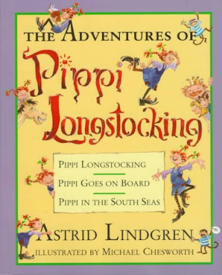 The Adventures of Pippi Longstocking treasury book cover