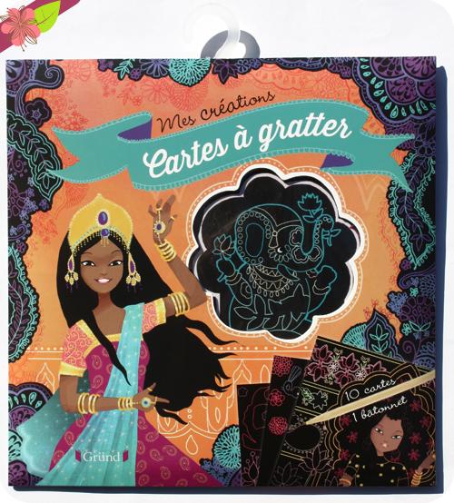 Mes créations : Cartes à gratter - princesses du monde - Gründ Jeunesse