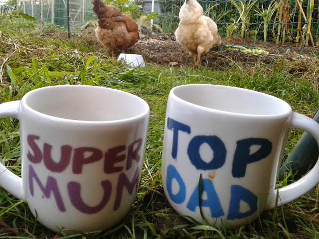 A cup of tea and chickens