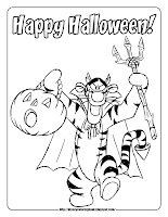 happy halloween pumpkin tigger