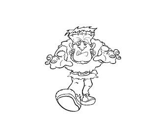 #10 Frankensteins Coloring Page