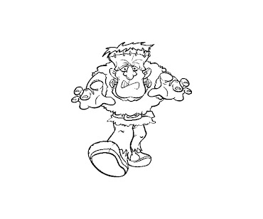 #10 Frankensteins Coloring Page