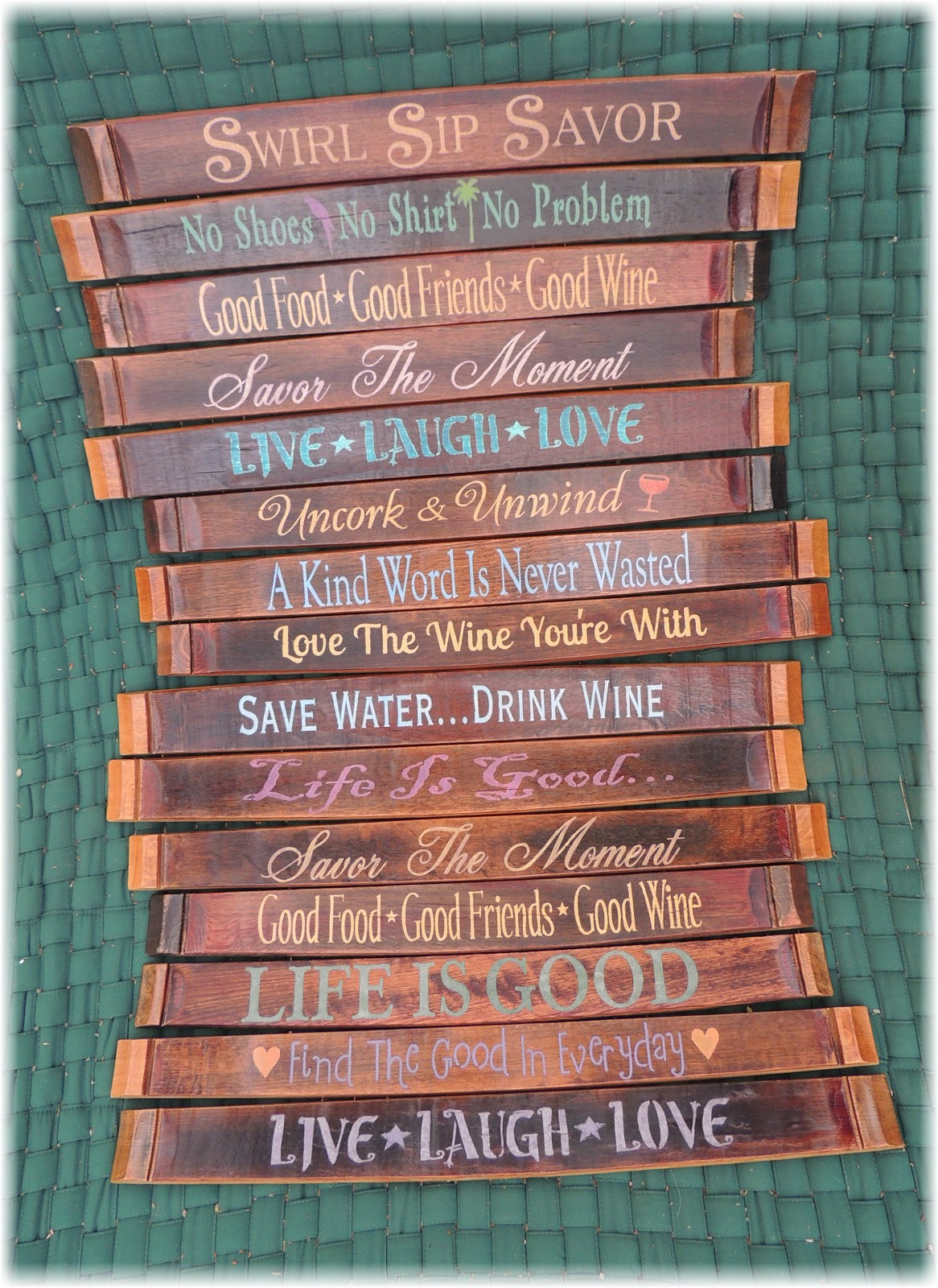 Cork To Barrel: Wine Barrel Stave Signs