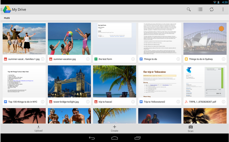 Google Drive_Android Cloud App