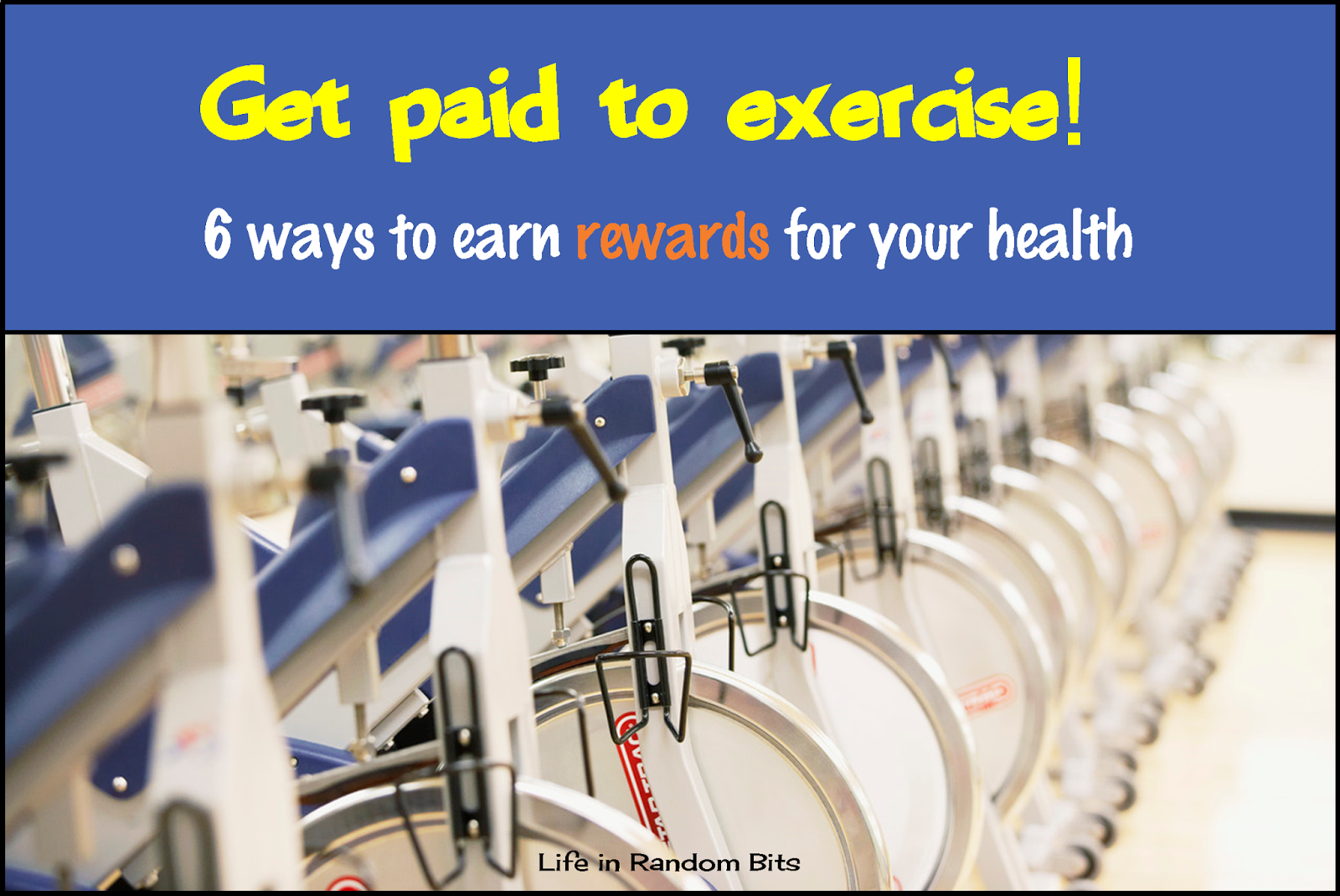 6 ways to earn rewards for exercise & your health. #exercise #apps #rewards