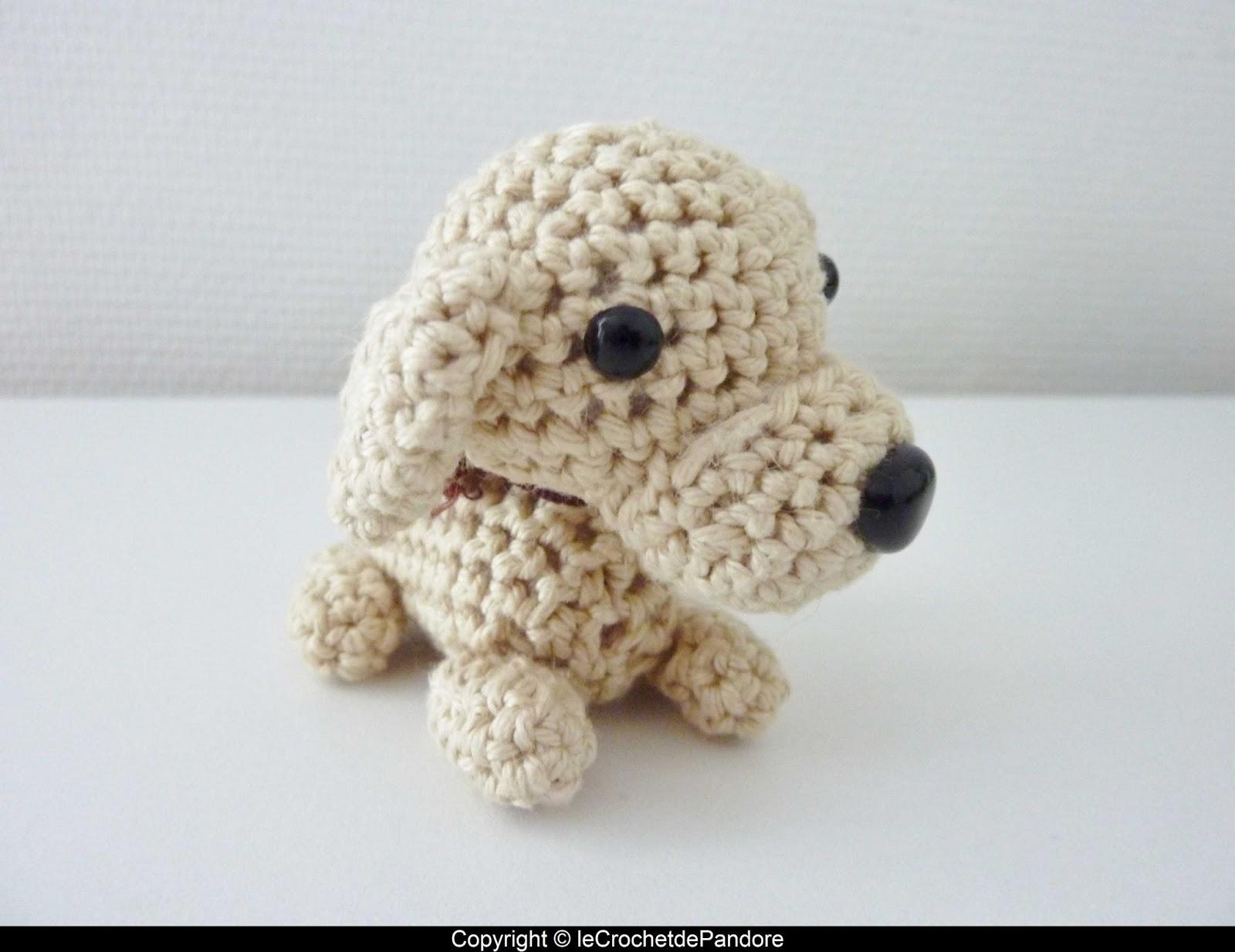 Le crochet de pandore mon premier amigurumi un petit chien - Petit chien gratuit ...
