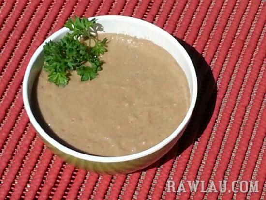 raw mushroom soup