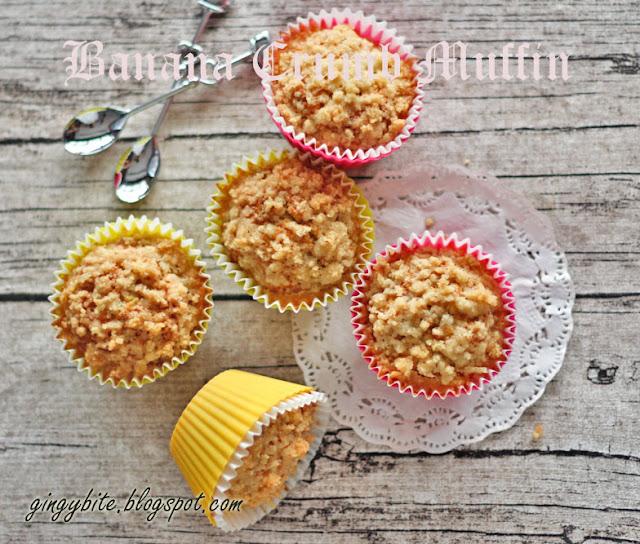Banana Crumb Muffin 香蕉糖屑妈芬
