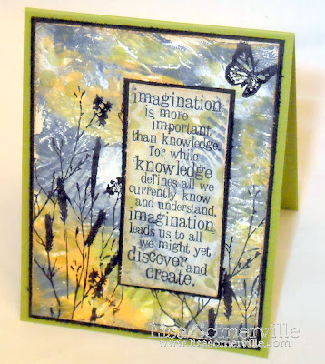 Mixed Media Gelli Plate Art Background - Ranger Stamps