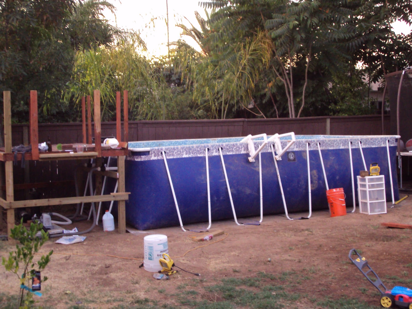 This InSane House DIY Backyard Landscaping Above Ground Pool