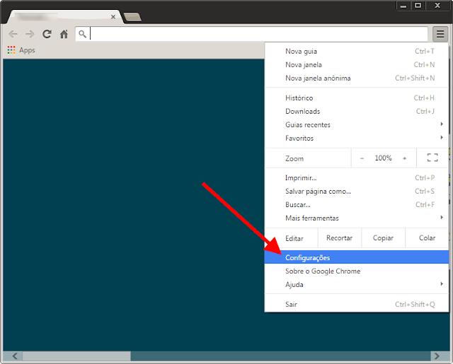 Google Chrome - Configurações