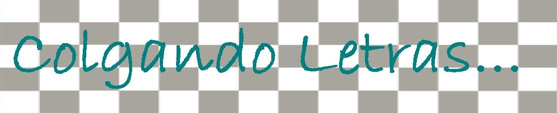 Colgando letras...