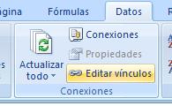 cambiar vinculos en Excel