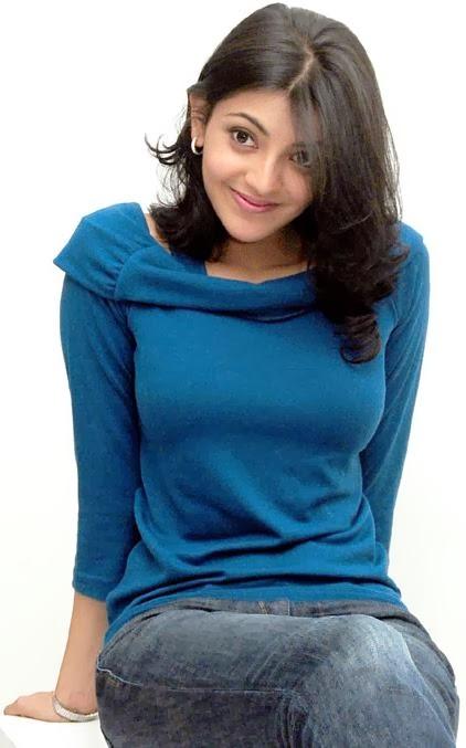 Kajal+Agarwal+in+blue+top+and+jeans001