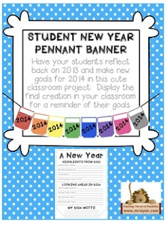 http://www.teacherspayteachers.com/Product/New-Year-Resolution-Student-Pennant-Banner-1038606