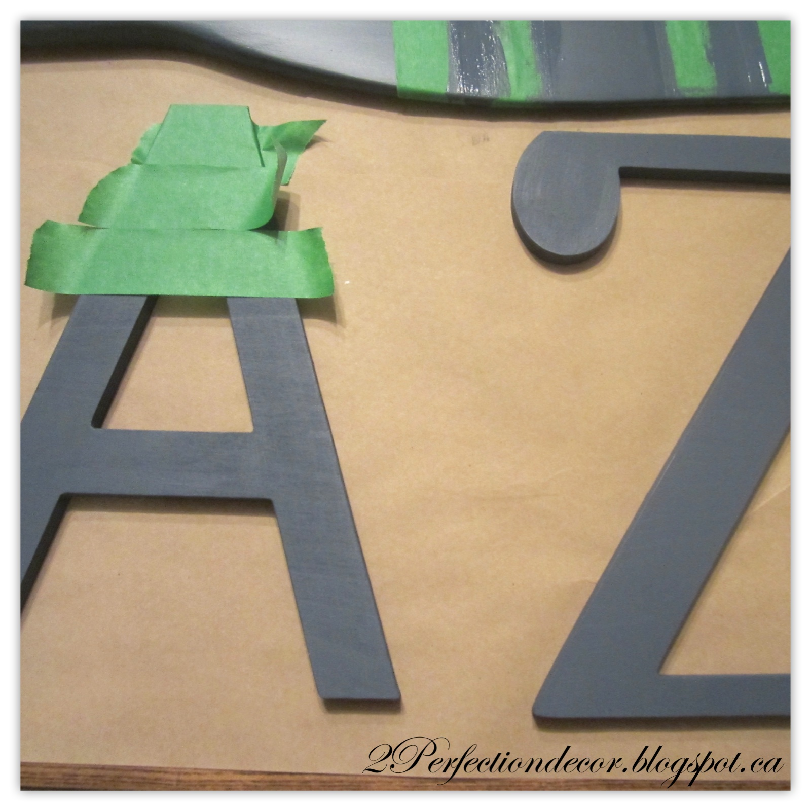2Perfection Decor: Wooden Alphabet Nursery Wall
