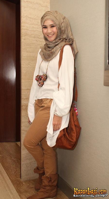 inspirasi hijab zaskia adya mecca beauty and style