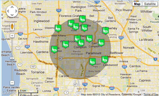 The compton clash race relations in southeast la map of catholic churches in the compton area archdiocese of los angeles sciox Gallery