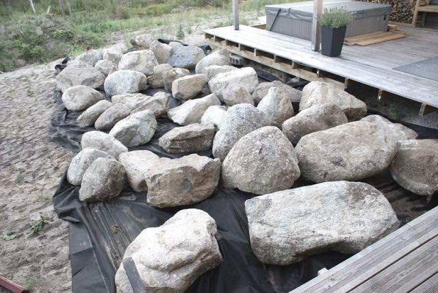 minimalistinen puutarha, kivet