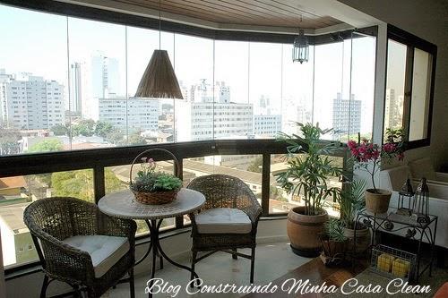 Construindo Minha Casa Clean Sacadas e Varandas Fechadas com Vidro! Veja Dicas e Modelos!!! -> Decoração Para Varanda De Apartamento Simples