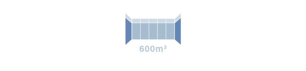 600m3