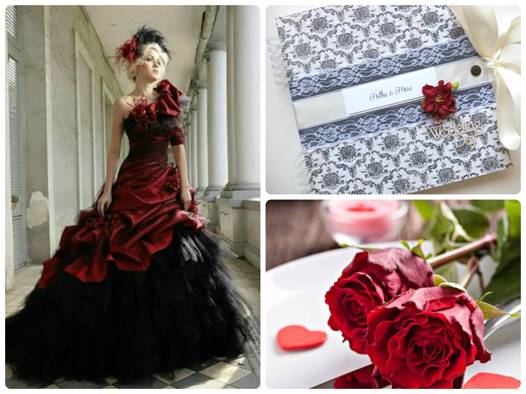 Svadobný album červeno-čierny / Wedding album black&red