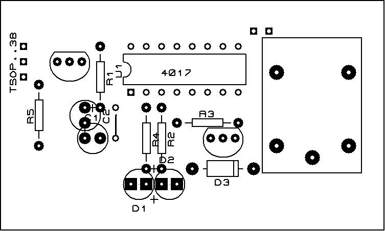 menyalakan atau mematikan lampu dari remote tv   layout