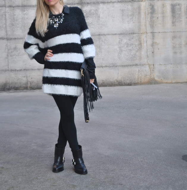 outfit maglia a righe come abbinare una maglia a righe abbinamenti maglia a righe how to wear a striped sweater how to combine striped sweater how to match striped sweater  blonde girl blonde hair blondie outfit casual invernali outfit da giorno invernale outfit gennaio 2016 january  outfit january 2016 outfits casual winter outfit mariafelicia magno fashion blogger colorblock by felym fashion blog italiani fashion blogger italiane blog di moda blogger italiane di moda fashion blogger bergamo fashion blogger milano fashion bloggers italy italian fashion bloggers influencer italiane italian influencer