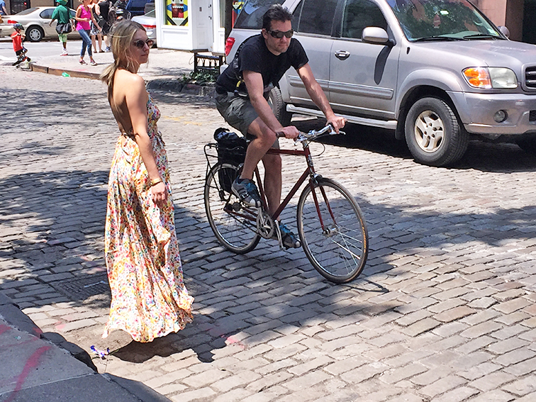Yumi Kim floral maxi dress in NYC