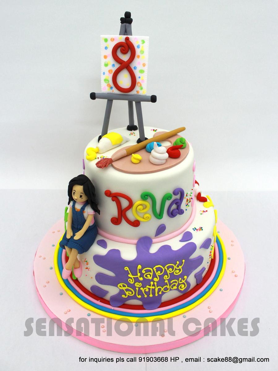 The sensational cakes painter theme birthday cake for Cake craft beavercreek ohio
