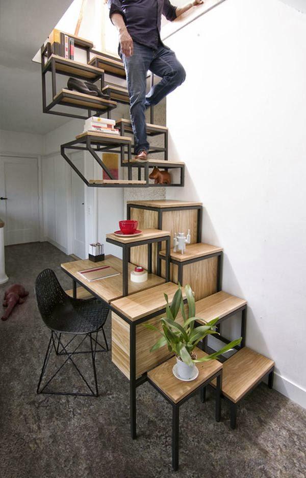 Ma Maison Au Naturel: Escalier, Rangement Et Bureau À La Fois