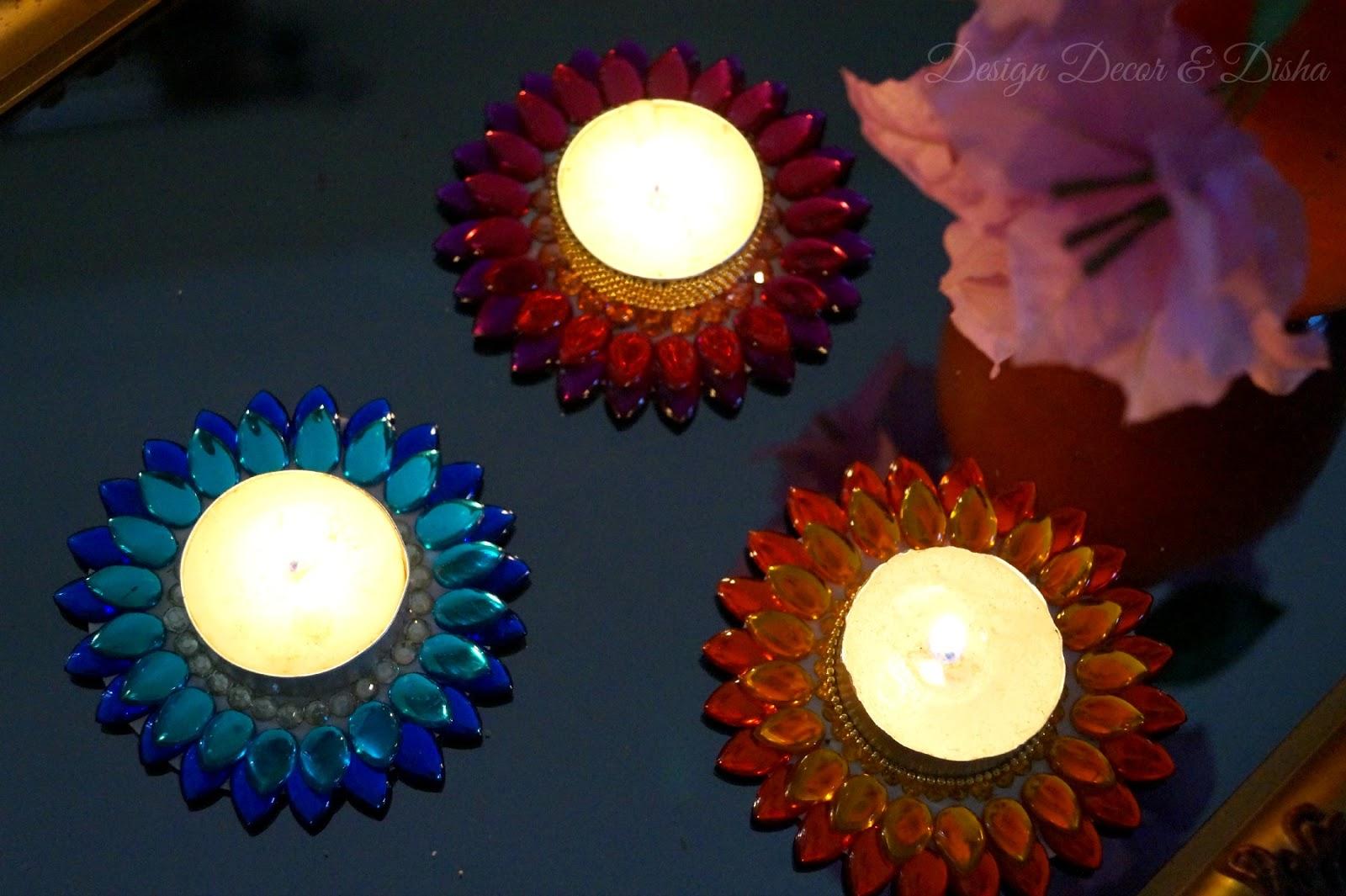 Design Decor Disha An Indian Design Decor Blog Diwali Craft Idea Lotus Tealights Diy