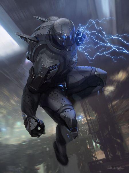 Geoffroy Thoorens djahalland deviantart ilustrações arte conceitual guerras futuristas batalhas tecnologia Galaxy Saga - Berserker