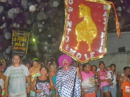 O Bloco, O Pinto é Mole, Mas é Meu, fez a festa dos foliões nesta ultima quarta-feira (26/02)